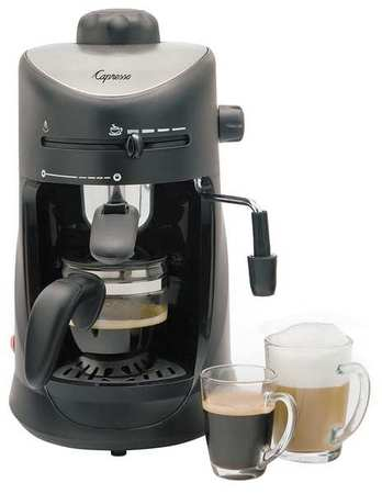 Click here to buy CAPRESSO Espresso Machine,Black Silver,10 oz. 303.01 by Jura Capresso Inc.