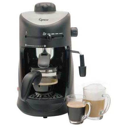 CAPRESSO Espresso Machine,Black/Silver,10 oz.