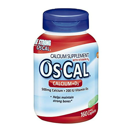 3 Pack - OsCal Calcium + D Supplement, Sodium Free, 160 count Each -  GlaxoSmithKline, 307661654604
