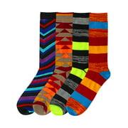 Funky Sock Game Crazy Combo Novelty 4-Pack Mens Dress Socks