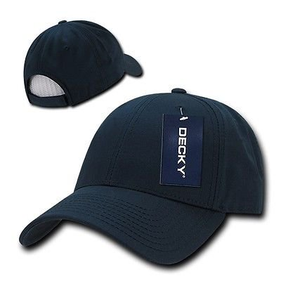 Navy Blue Cotton Plain Solid Golf Structured 6-Panel ...