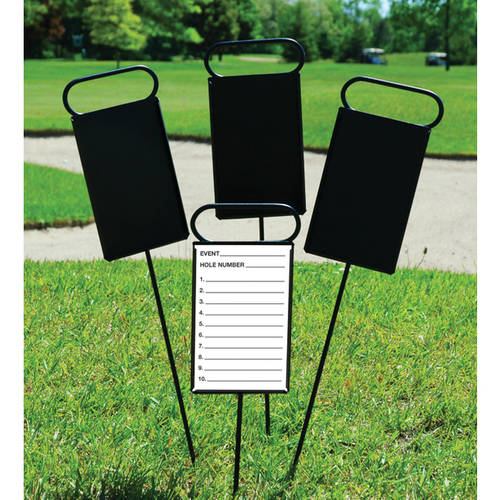 Flagpole To Go Metal Proximity Marker, Set of 4 with 50 Cards