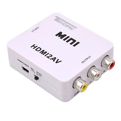 RCA Tendak 1080P HDMI to AV 3RCA CVBs Composite Video Aud...
