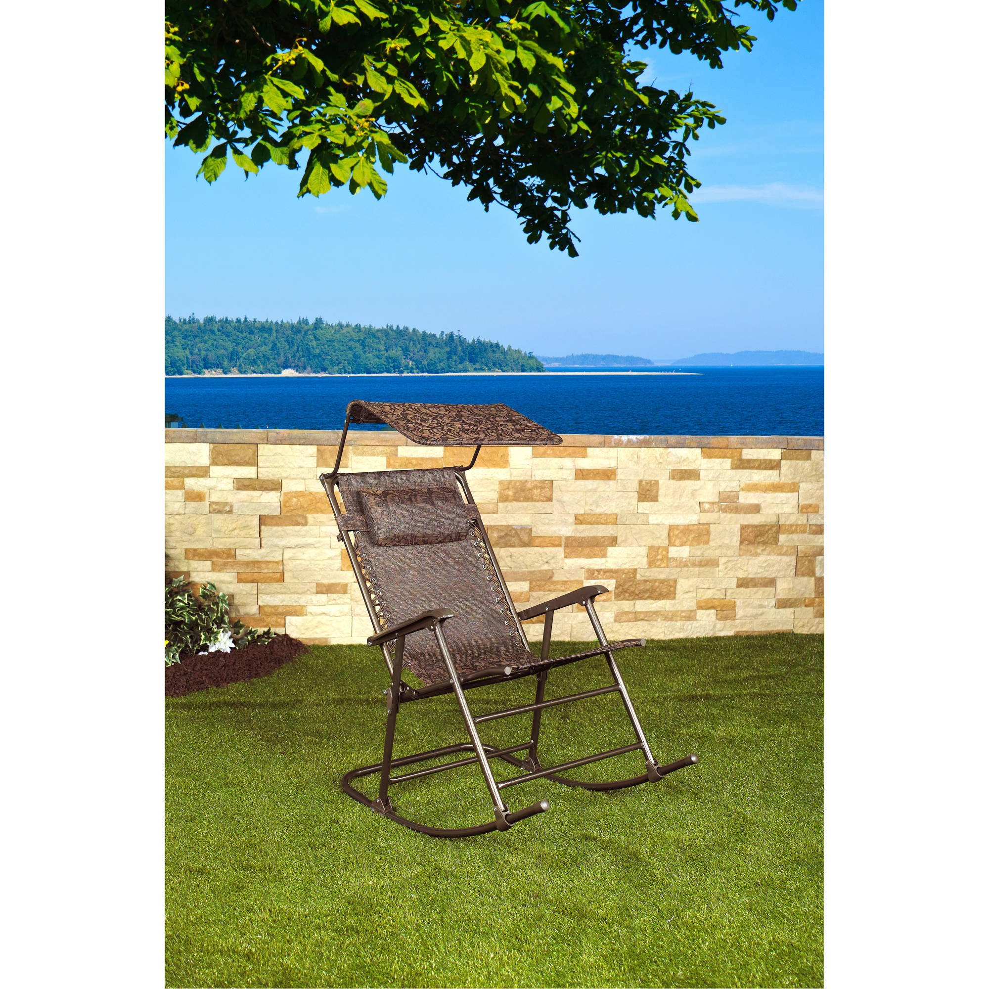 Bliss Hammocks Rocking Chair with Canopy