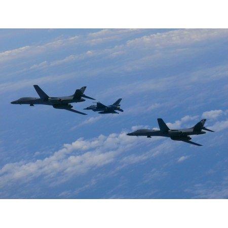 Canvas Print Bomber B-1b Korea South Korea Lancer Air Force Stretched Canvas 10 x 14