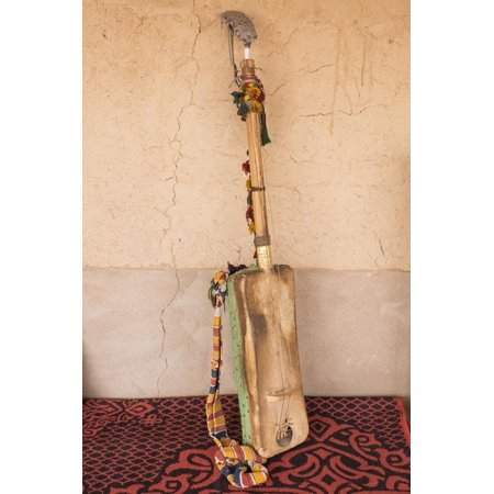 Morocco, Sahara region. Hajhouj or guembri musical instrument used in Gnawa music. Print Wall Art By Brenda Tharp ()