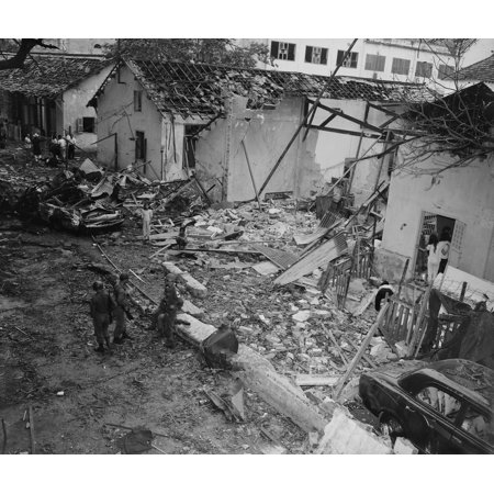 Vietnam War Destruction Of The Brinks Hotel In Saigon Which Was Being Used  As Officers Billets For Us Armed Forces Two Americans Were Killed History
