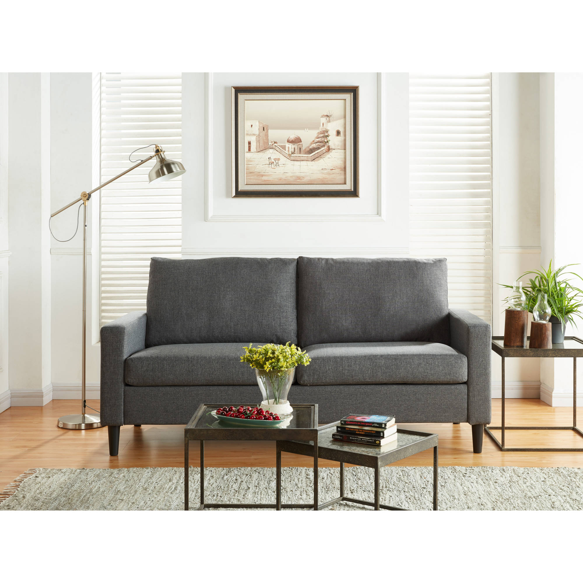 Mainstays Apartment Sofa, Multiple Colors