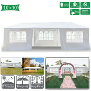 Pabby Yard 10' x 30' Tents and Canopies Outdoor Tents and Canopy, White 7 Sides Portable Waterproof Tent with Spiral Tubes Canopy Tents for Outside Party Waterproof Canopy Wedding Tent BBQ Shelter