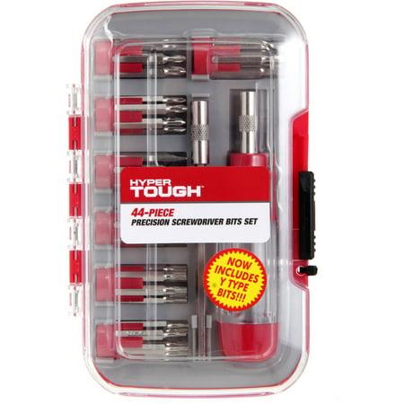 hyper tough 44 piece precision screwdriver set with case. Black Bedroom Furniture Sets. Home Design Ideas