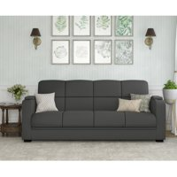 Homesvale Finnigan Storage Arm Convert-a-Couch in Microfiber