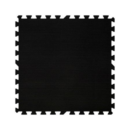 Alessco EVA Foam Rubber Interlocking Premium Soft Floors - 8' x 8' Set- Black (Alessco Premium Soft Floors Set)