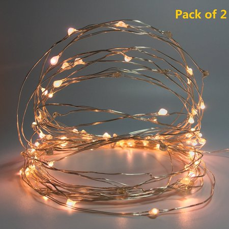 Starry String Lights Custom Pack Of 60 Mini Starry String Lights With BatteryPowered And Timer