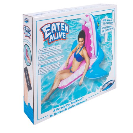 SwimWays 6044161-SW Eaten Alive Inflatable Shark Pool Float for Ages 5 and Up - image 3 of 5