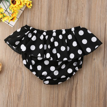 Girls Kids Ruffle Cotton Shorts Boutique Bottoms Summer Baby Bloomers Pants 0-6Y
