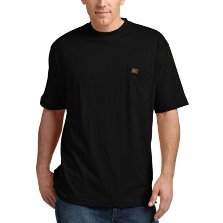 RIGGS WORKWEAR by Men's Big & Tall Pocket T-Shirt, Black, XXX-Large