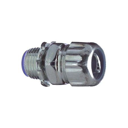 Thomas & Betts 5331 3/8 in. Insulated Liquid Tight Flexible Metal Conduit Connector, Straight, Steel,