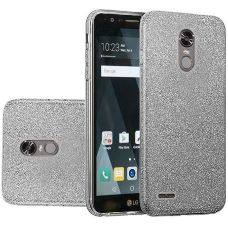 LG Stylo 3 Case LG Stylo 3 Plus Case by HR Wireless Dual Layer Hybrid Glitter Hard Plastic/Soft TPU Rubber Phone Case Cover For LG Stylo 3 LS777 / LG -