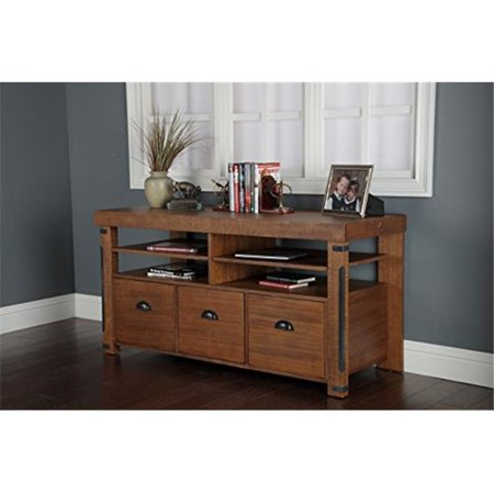 La Console - Industrial Credenza Console with Three Large File Drawers