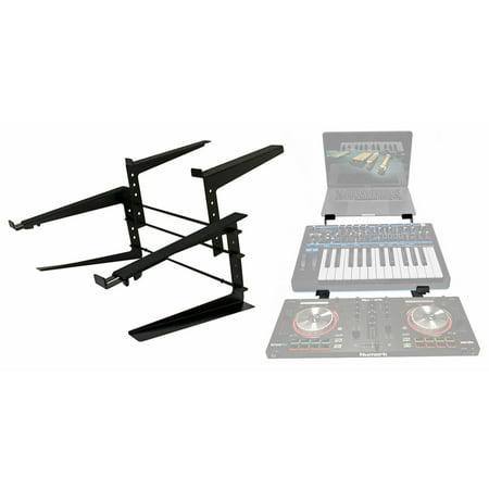 Rockville Rock2d2 Adjustable Dual Shelf DJ Controller Midi Keyboard Laptop