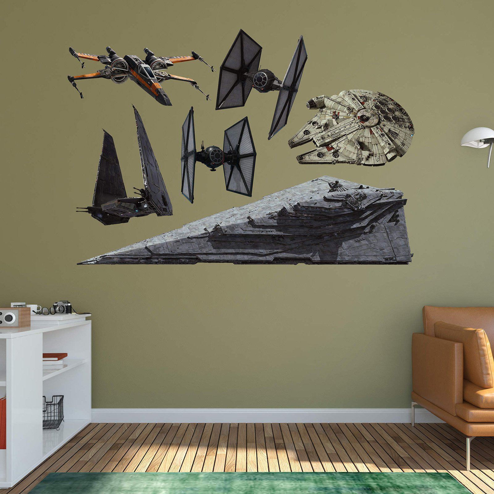 Fathead Star Wars Episode VII - The Force Awakens Spaceships Wall Decal Collection