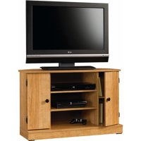 "Sauder Beginnings Corner TV Stand for TVs up to 40"", Highland Oak Finish"