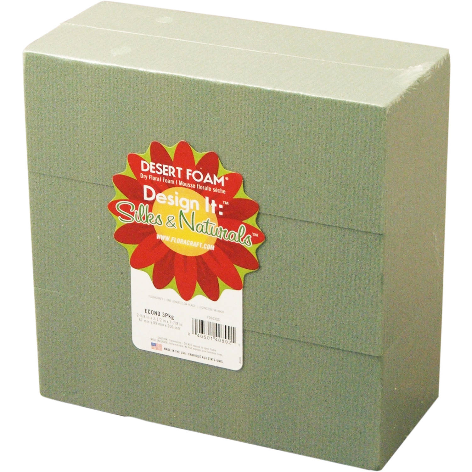 Design It Dry Foam Block 3pk, Green