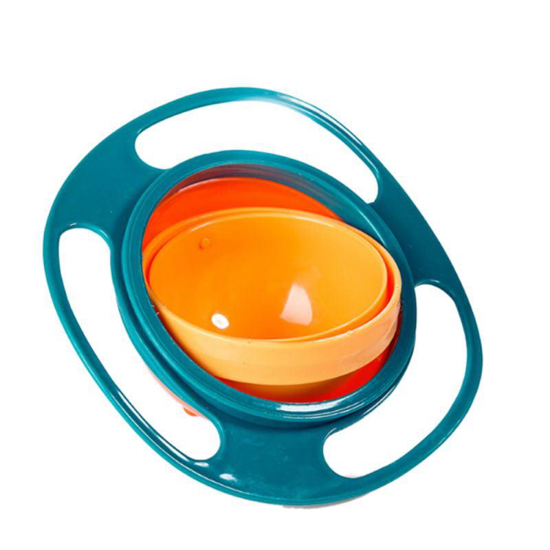 Sweetsmile Infant Baby Feeding Bowl Universal 360 Rotate Spill-Proof Gyro Bowl Toddler Tableware