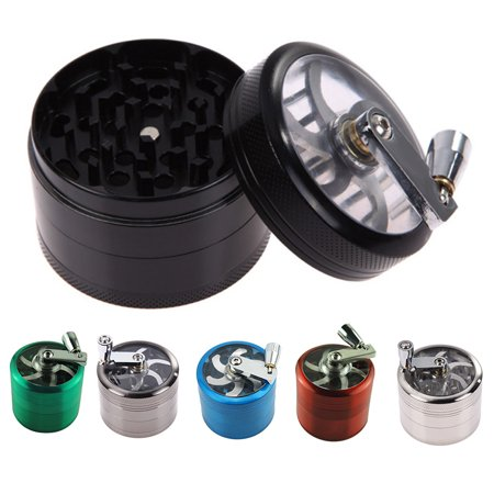 Metal Tobacco Herb Grinder - AngelCity 40mm Tobacco Grinder Manual Metal 4 Layer Crusher Smoke Herbal Herb Mill Spice Crusher Kitchen Accessories Smoke Grinders