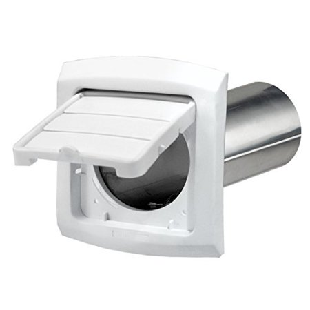 Dryer Vent Hood - Hinged and Louvered Cap with Aluminum Pipe - 4-inch,