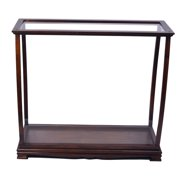Old Modern Handicrafts Table Top Display Case Classic Brown