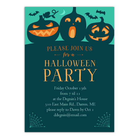 Personalized Halloween Invitation - Spooky Bash - 5 x 7 - Halloween Invitations Diy