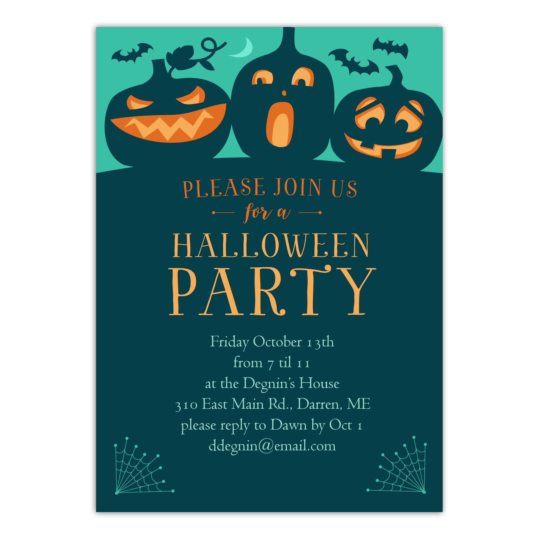 Personalized Halloween Invitation - Spooky Bash - 5 x 7 Flat