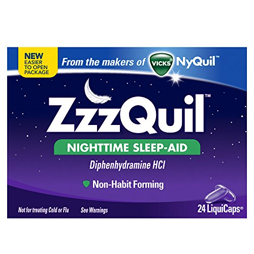 2 Pack - Zzzquil Nighttime Sleep-aid Liquicaps 24 Count Each