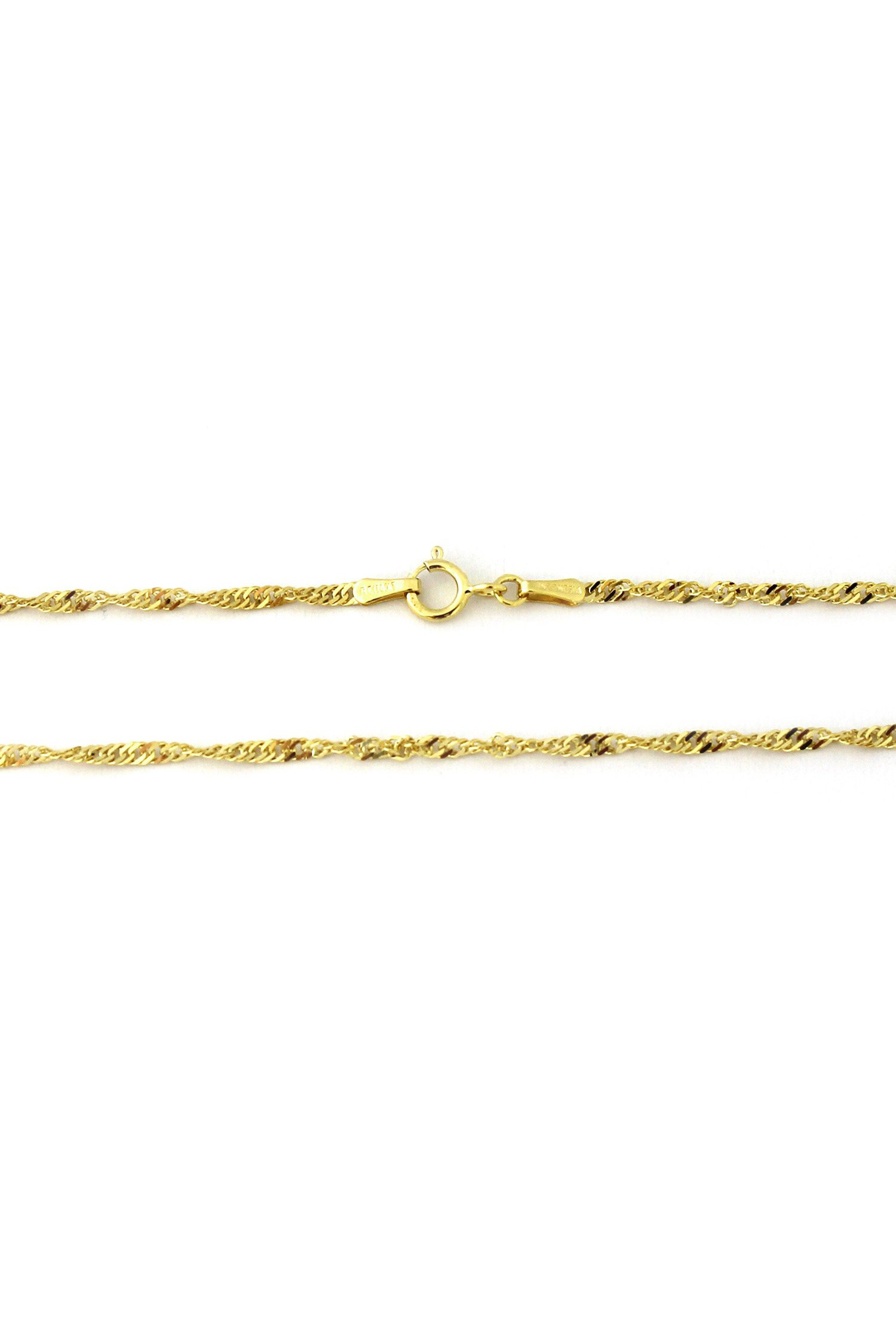 14Kt Gold Sparkle Singapore Chain With Lobster Lock 20 Inches Long Singapore Chain