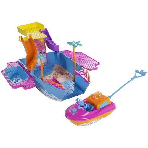 Polly Pocket Tropical Party Yacht Play Set