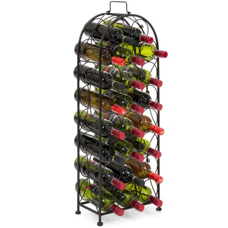 Best Choice Products 23-Bottle Metal Wine Rack Stand - Black ()