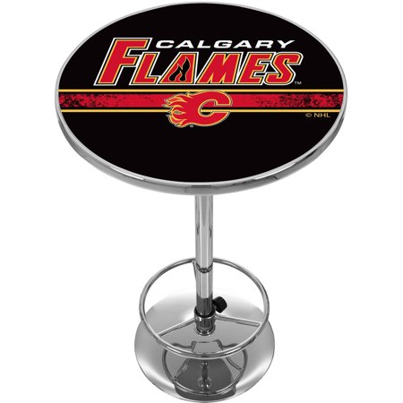 NHL Chrome Pub Table, Calgary Flames by