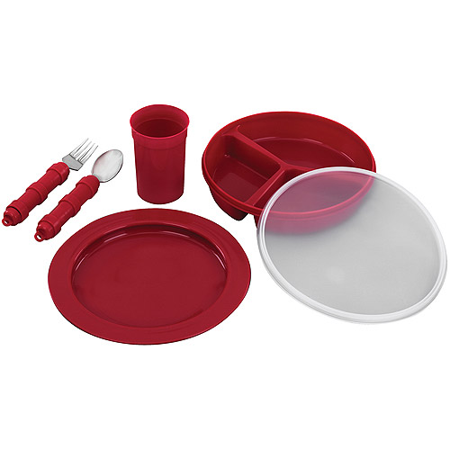 Ableware Deluxe Dinnerware Eating and Drinking Aids Set