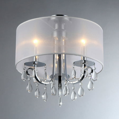 Muses Crystal 16-inch Chrome Chandelier ()