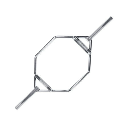 Silver White Barbell (CAP Barbell Olympic 2-Inch Weight Bar Zinc Plated Mega Hex Bar )