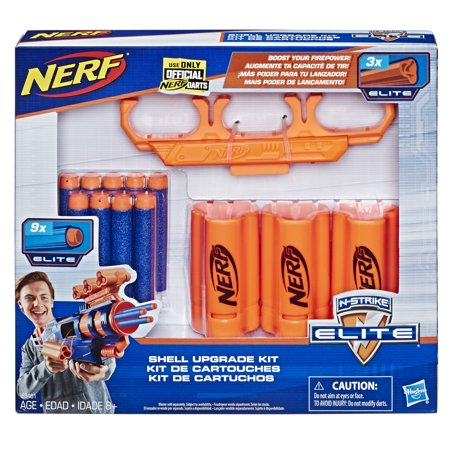 Nerf Shell Upgrade Kit: 3 Shells, 9 Nerf Darts, Shell Holder, Walmart Exclusive