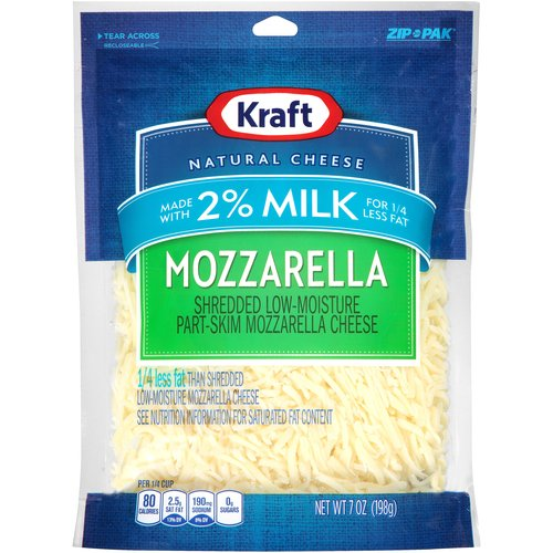 Kraft Shredded Mozzarella Cheese, 7 oz