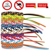 Mosquito Repellent Leather Braided Bracelets.