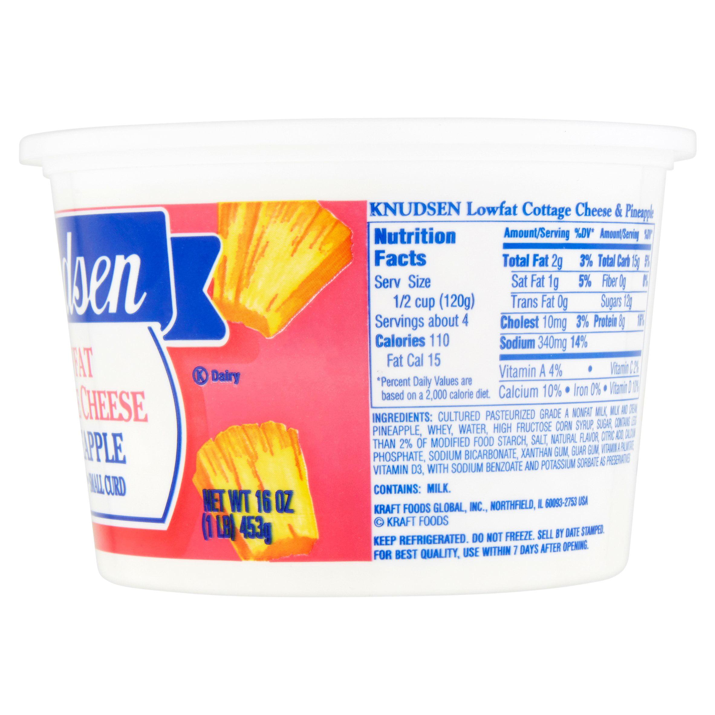 Knudsen Lowfat W/Pineapple Cottage Cheese, 16 Oz   Walmart.com