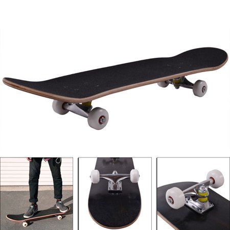 Jaxpety Blank Complete Skateboard, Stained Black (31