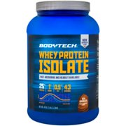 BodyTech Whey Protein Isolate Powder  With 25 Grams of Protein per Serving  BCAA's  Ideal for PostWorkout Muscle Building  Growth, Contains Milk  Soy  Rich Chocolate (3 Pound)