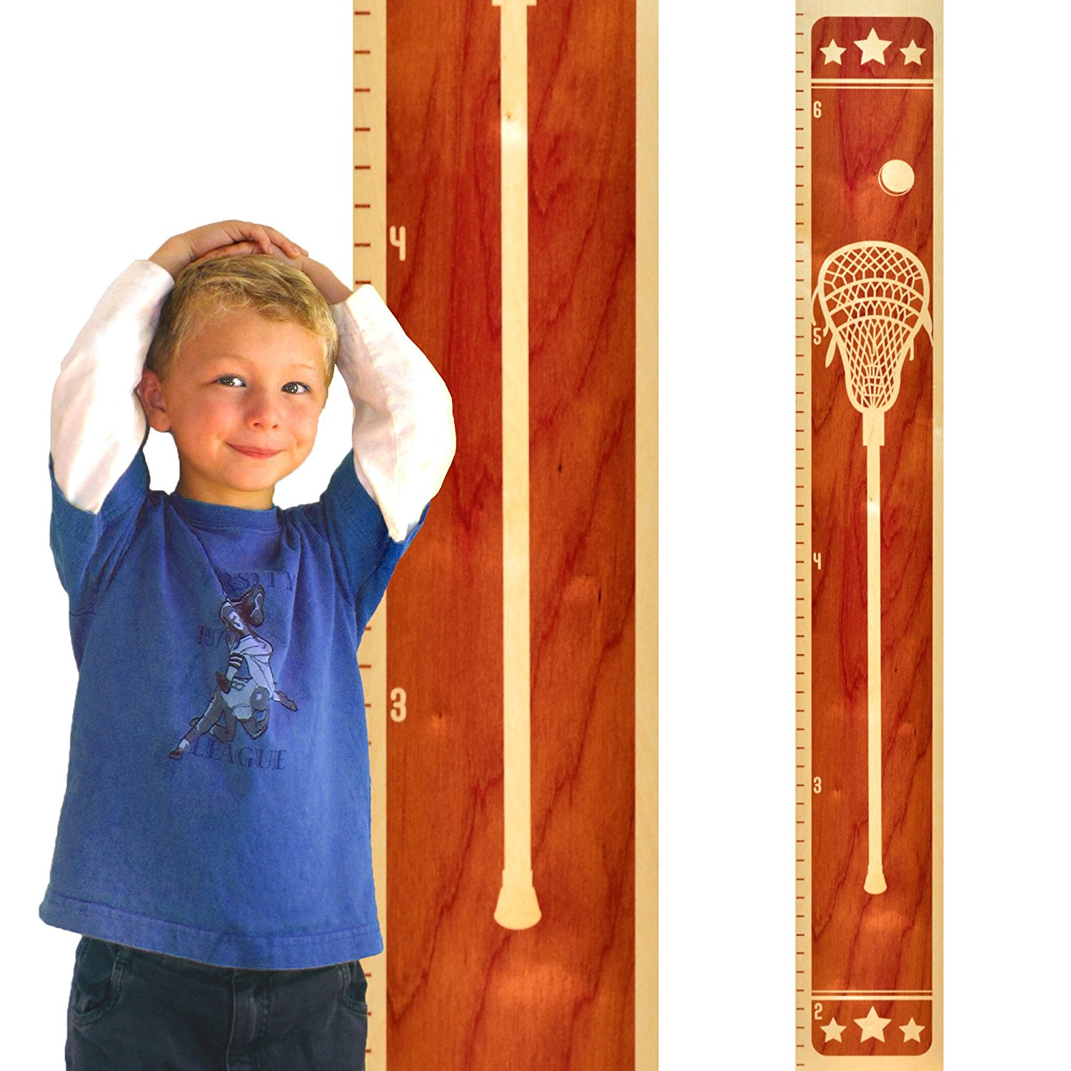 Growth Chart Art Wooden Height Chart | Sports Growth Char...