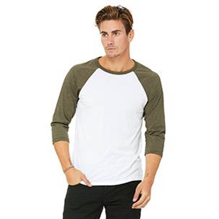 32199e54efbb8 BELLA+CANVAS - Bella + Canvas - Unisex Three-Quarter Sleeve Baseball T-Shirt  - 3200 - Walmart.com