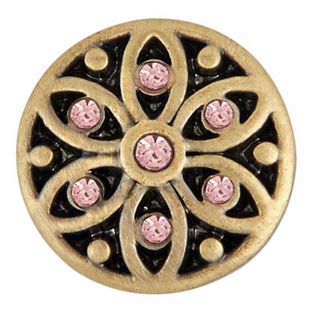 Ginger Snaps Petite Antique Brass Starlight Rose Snap GP05-41